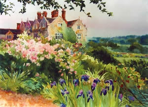 Painting of Gravetye Manor by Jann Pollard - available for purchase at www.jannpollard.com