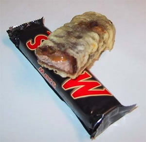 Deep-fried Mars Bar