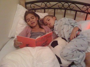 barbie reads to leo