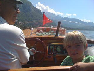 leo on boat